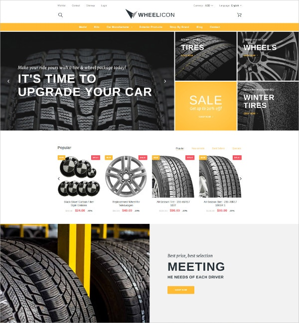 Automobile PrestaShop Website Theme $139