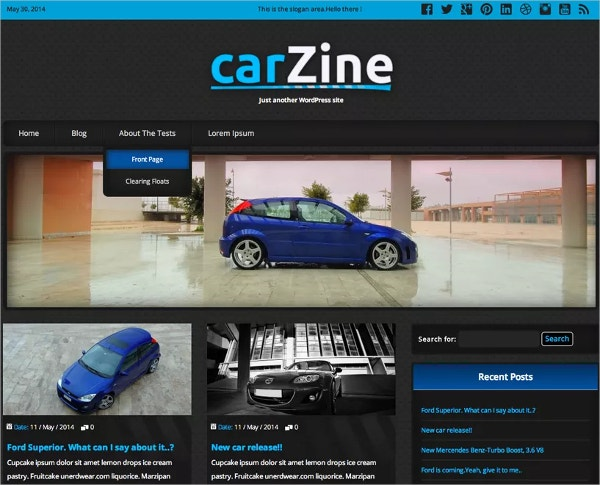 html5 automobile website template