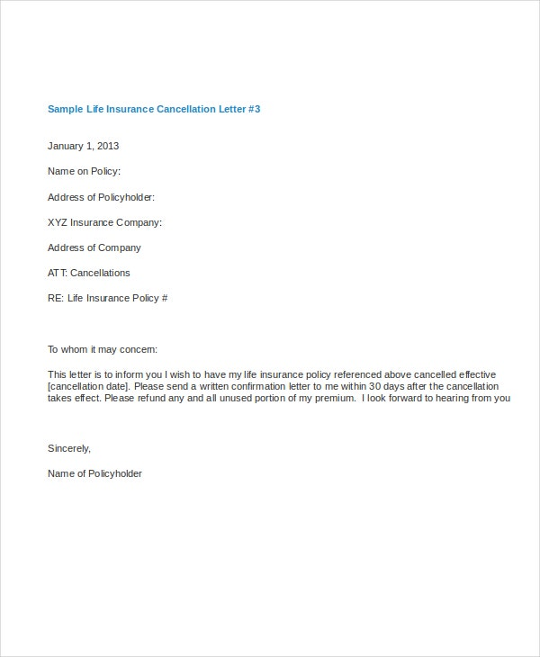 Cancellation Letter Template   Free Word Pdf Documents