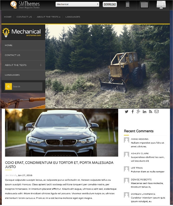 Free Perfect Automobile WordPress Website Theme