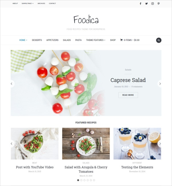 elegant food recipes wp website theme 75