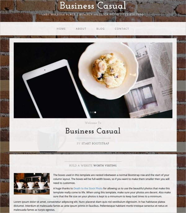 free business elegant bootstrap website template
