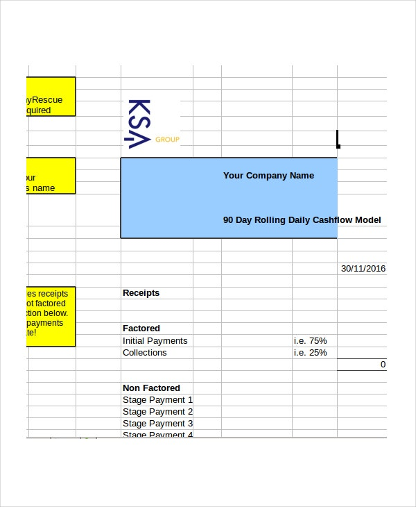 cash flow excel format