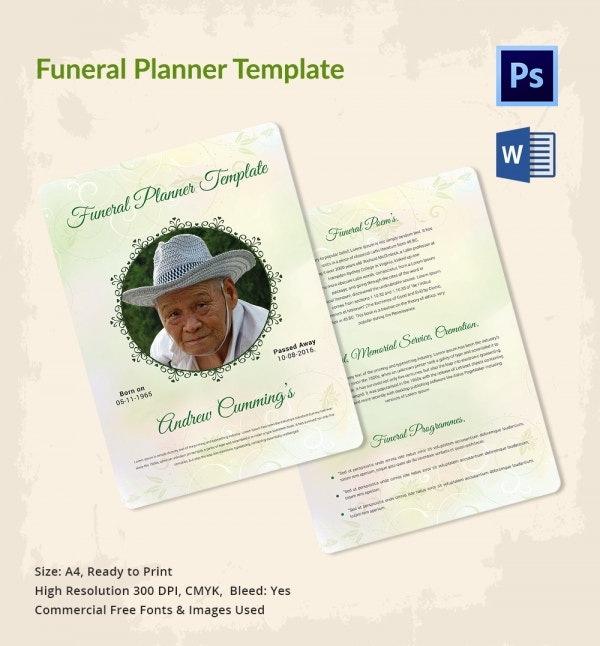 Funeral Comprehensive Planner Template