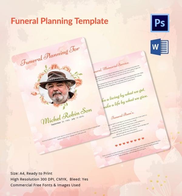 Elegant Funeral Planner Template