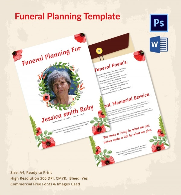 5 Funeral Planner Templates - Free Word, PSD Format Download | Free ...