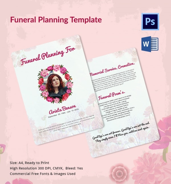 Funeral Event Planner Template