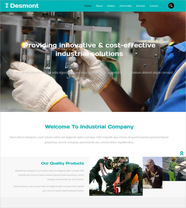 Industrial Bootstrap Website Template