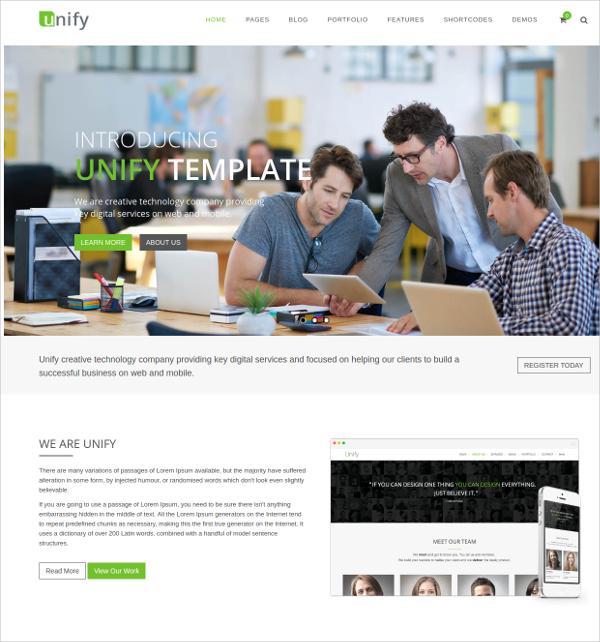 Responsive Website Template $18