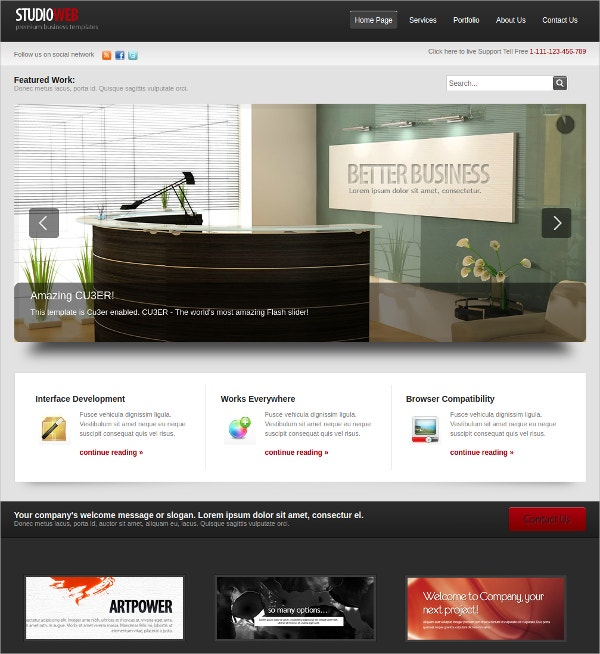 Elegant Studio Website Template