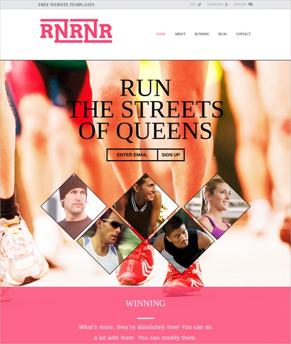 Elegant Free Fitness Website Template