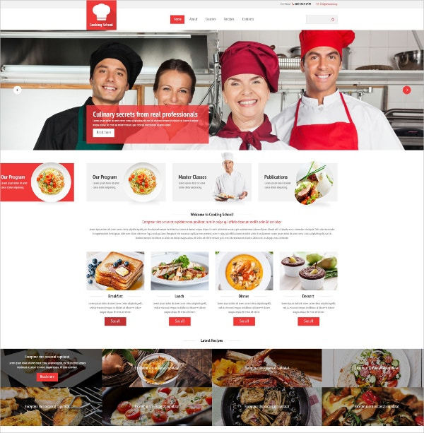 Cooking Website Template $69