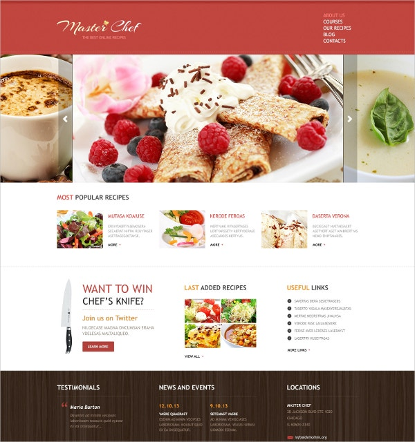 17 Recipe Website Themes Templates Free Premium Templates