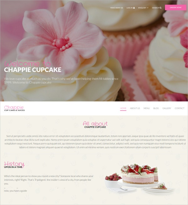 Recipe Cake Drupal Website Theme $53