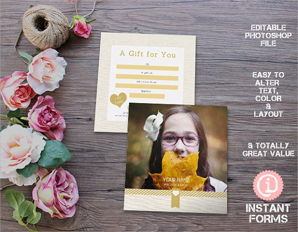 Photographers Gift Voucher Template