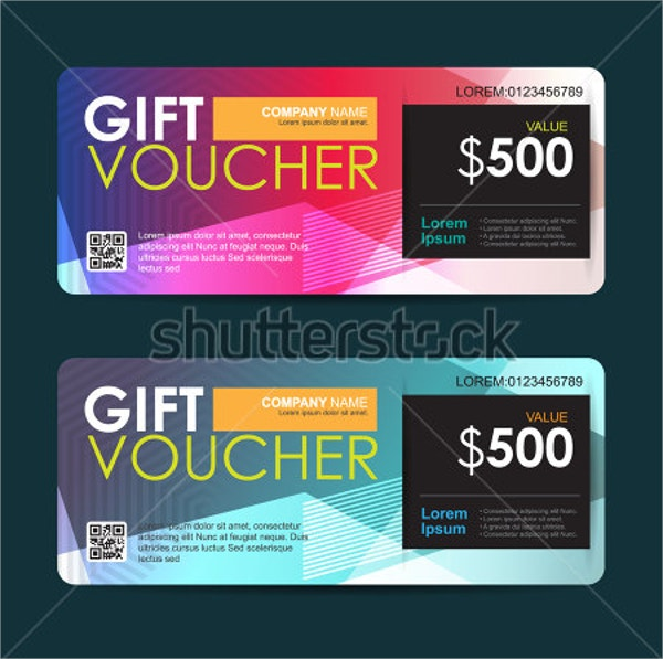 Vector Illustration Gift Voucher
