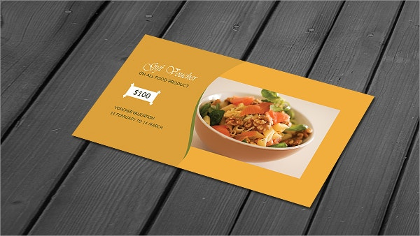 Restaurant Gift Voucher Template Design