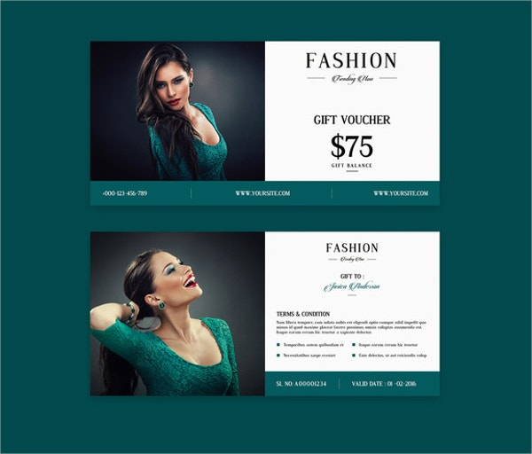 Fashion Gift Voucher Template Design
