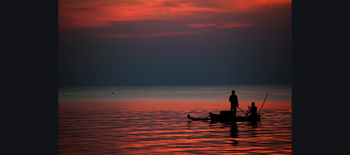 Fisherman After Sunset Photography