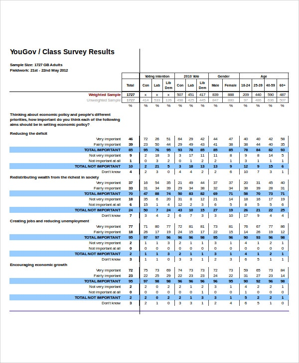 Survey Report Template  Free Survey Templates