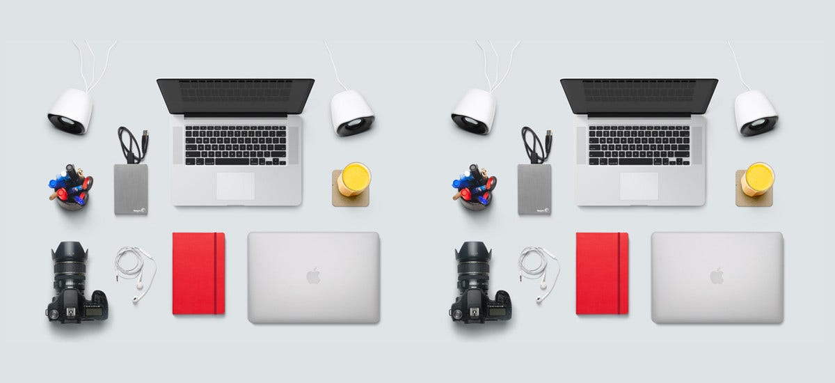 designer office desk isolated objects top view. designer desk essentials 38 objects office isolated top view t