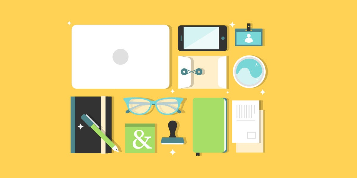 designer office desk isolated objects top view. designer office desk isolated objects top view free working download g