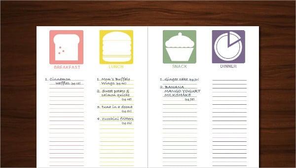 6 Word Recipe Templates