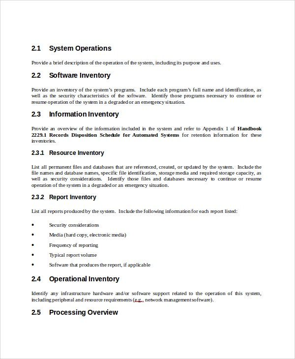Wonderful Operation Manual Template Word Intended For Manual Template Word