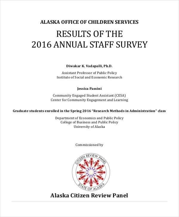 Annual Staff Survey