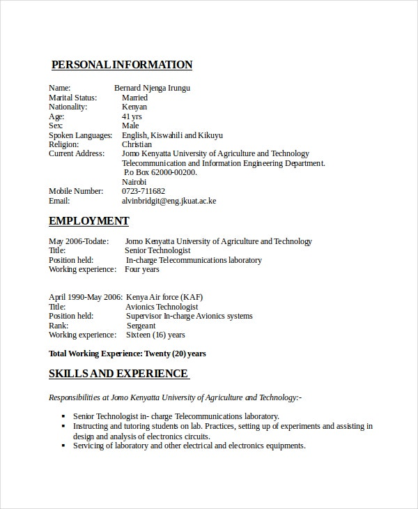 Electrician Resume Format Electrician Resume Examples Engineering