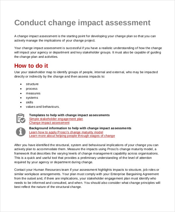 Conducting Change Impact Assessment
