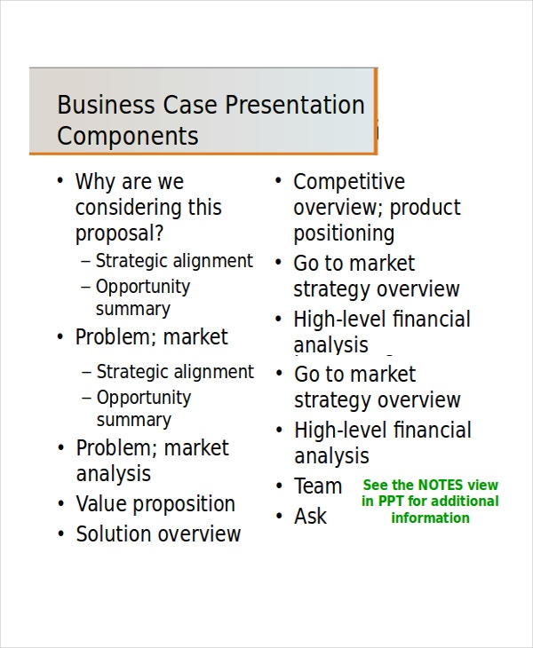 Business presentation template 5 free ppt document for Presenting a business case template