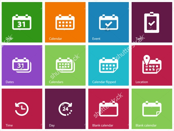 Vector illustration Calendar Icon