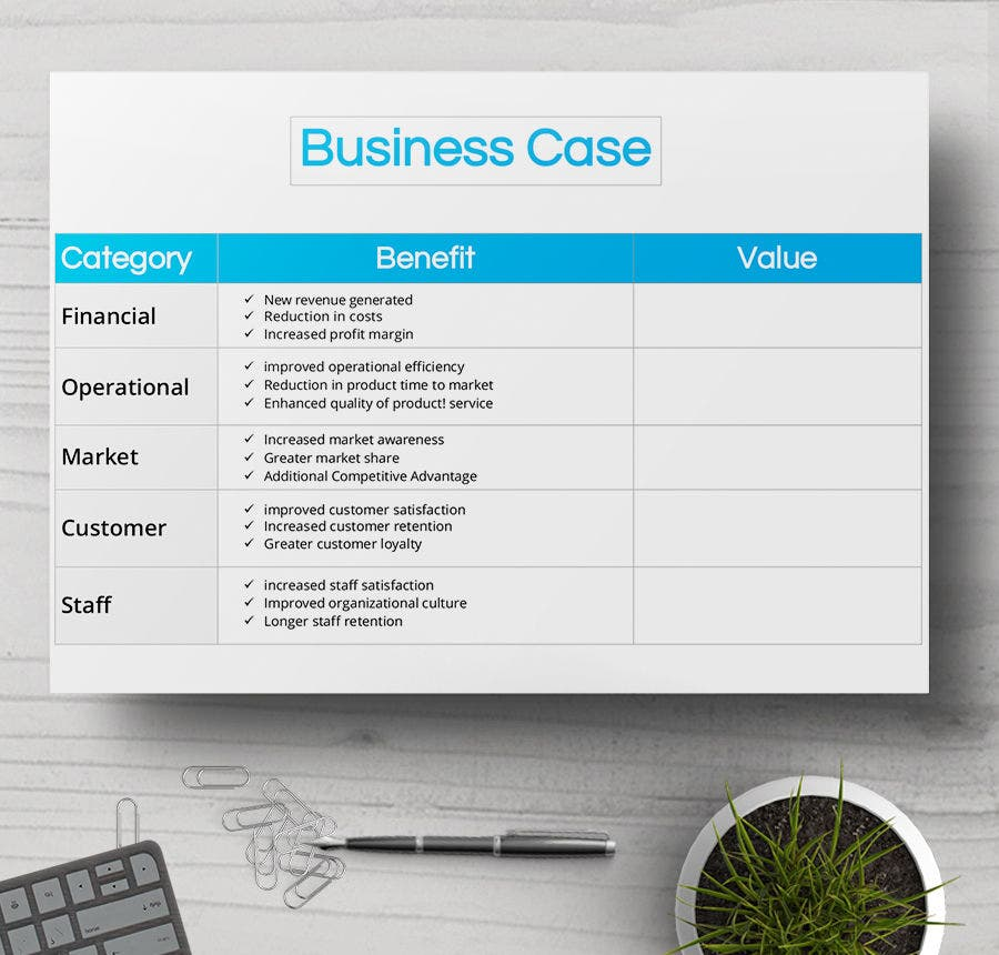 Business case template datariouruguay accmission Images