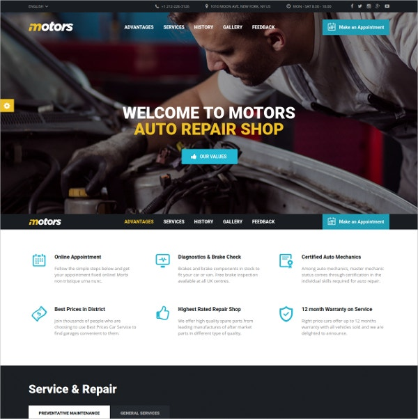 Motorcycle, Car Dealership Classifieds WordPress Theme $79