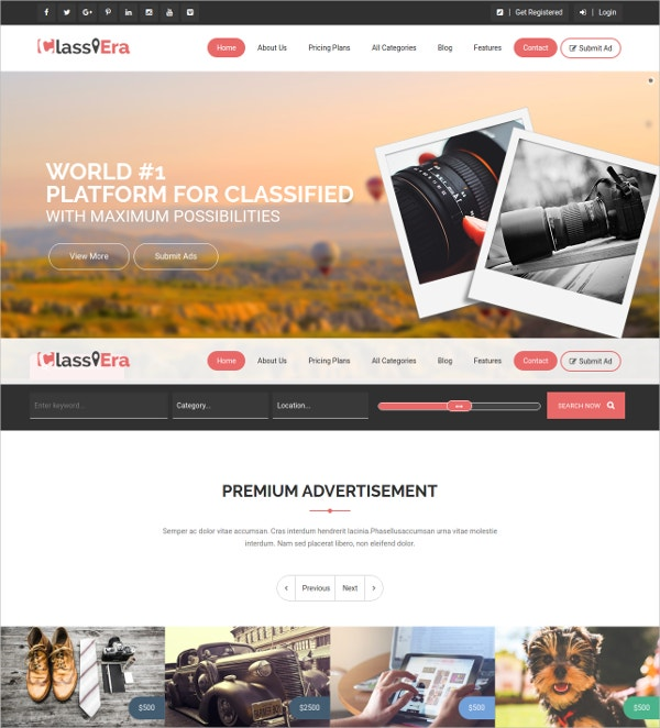 Advertising & Classified WordPress Theme $49