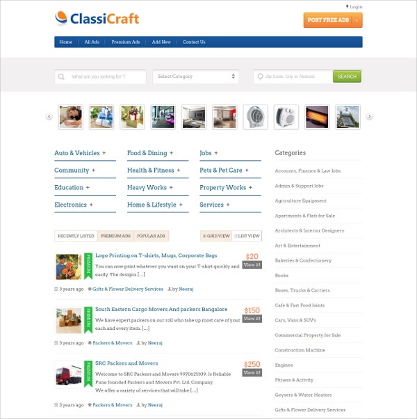 Multipurpose Classified WordPress Theme $97