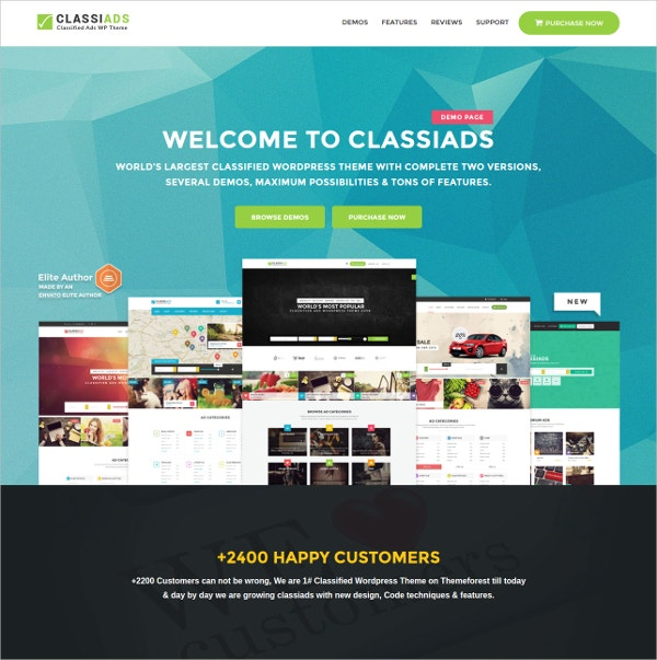 Business Classified WordPress Theme $49