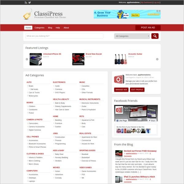 premium classifieds wordpress theme