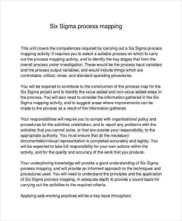 process map six sigma example