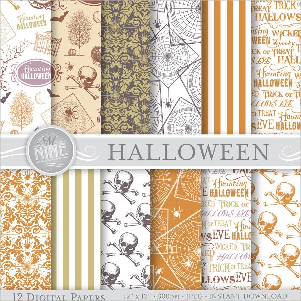 Halloween Digital Paper Pattern