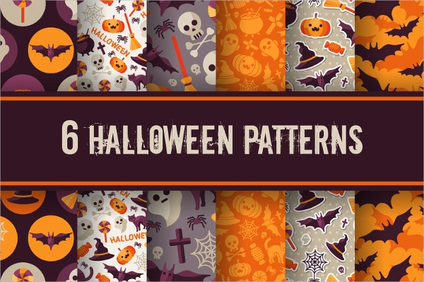 Halloween Digital Paper Pattern Print