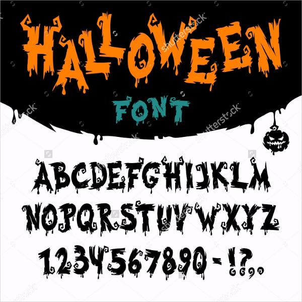 Halloween Vector Font