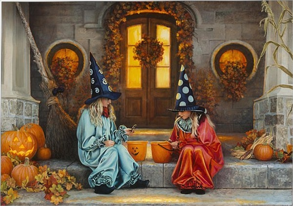 Halloween Sweetness Painting by Greg Olsen