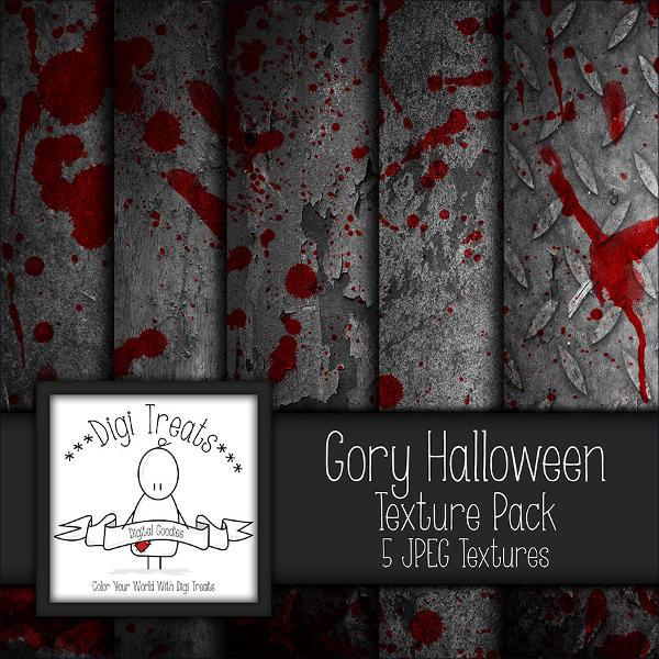 Gory Halloween Textures Set