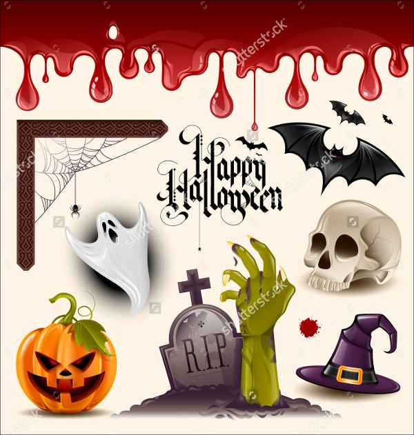Set of Halloween Vector Clipart