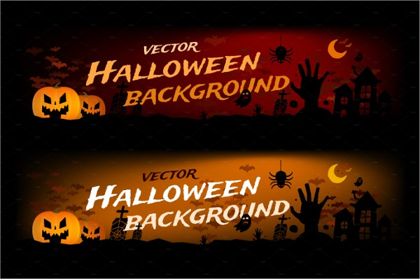 Vector Halloween Banner Template