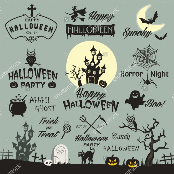 Set of Halloween Vector Elements