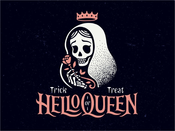 Halloween Queen Logo Design