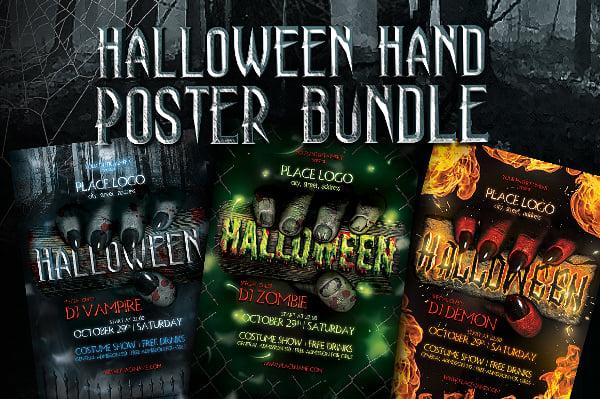halloween hand poster template